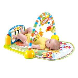 Игровые развивающие коврики Lorelli- лучший выбор родителей для их малышей. С рождения малыш знакомится с цветами, звуками, развивает моторику. Игровые коврики Lorelli помогут молодым родителям развлечь малыша. Они подойдут деткам с рождения. Красочные игрушки привлекают внимание малыша, а разнообразные звуки развивают слух и внимание. подарите малышу удовольствие в игровой форме. Коврики оснащены дугами, на которызх крепятся игрушки. В дальнейшем игрушки, погремушки и пищалки можно использовать отдельно, т.к. они съемные и за ними легко ухаживать.